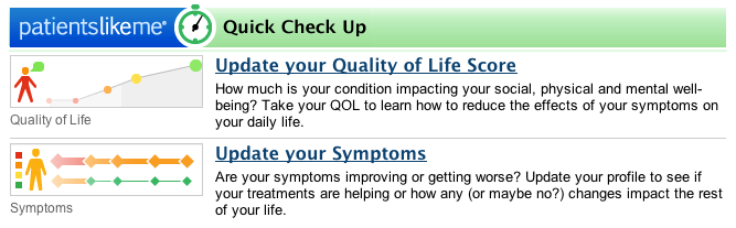 "PatientsLikeMe ""Checkup"" Reminder Emails"