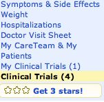Clinical Trials Link on Every Patient Profile