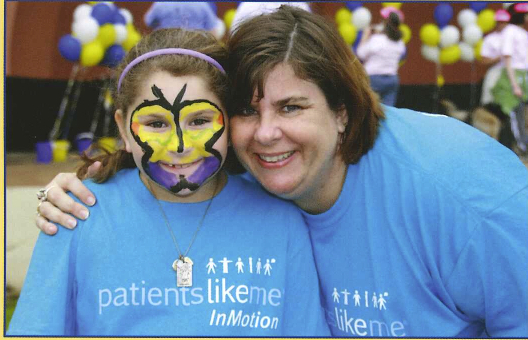 PatientsLikeMe member Hapione and her daughter at the 2011 NAMI Walk in Dallas