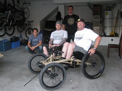 MLR and Friends Showing Off the 4Cross DH Gravity Wheelchair