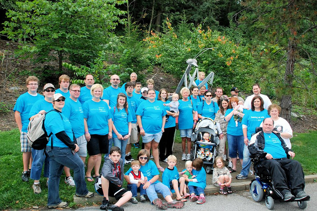Iceberg and His Large, All-Ages Team Representing in Bright Blue at the Walk to Defeat ALS