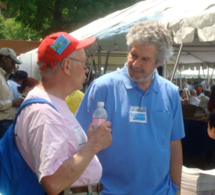 Research Scientist Mike Massagli Talking to a Patient at Wellness Fair Following the 2008 AIDS Walk Boston