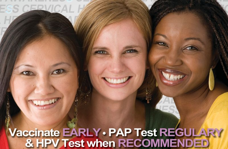 Attention Ladies!  January Is Cervical Health Awareness Month.