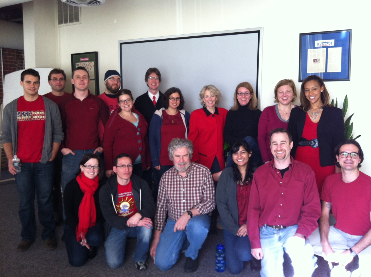 The PatientsLikeMe Team Showing Our Support for Women's Heart Health