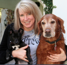 "Dr. Dee Kite (""Coach Dee"") with Her Dogs, Trixie and Coconina"