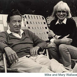 Mike and Mary Wallace.  Photo Courtesy of CBS News.