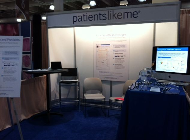 A Glimpse of the PatientsLikeMe Booth Before the Attendees Arrived