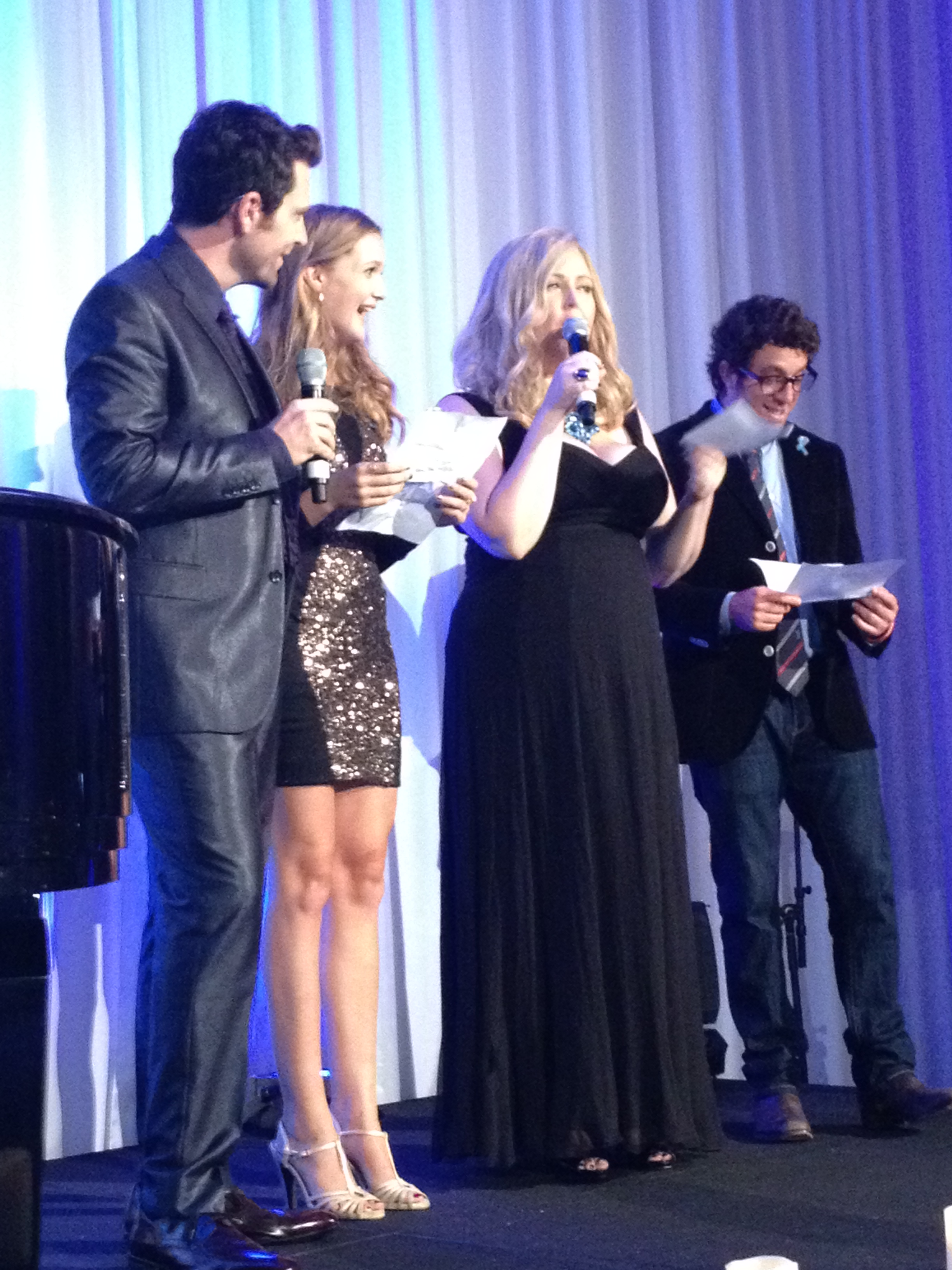 Chris Mann, Gracie Van Brunt, Katrina Parker and Elliot Yamin (Left to Right) Performing at the Tribute to Champions of Hope