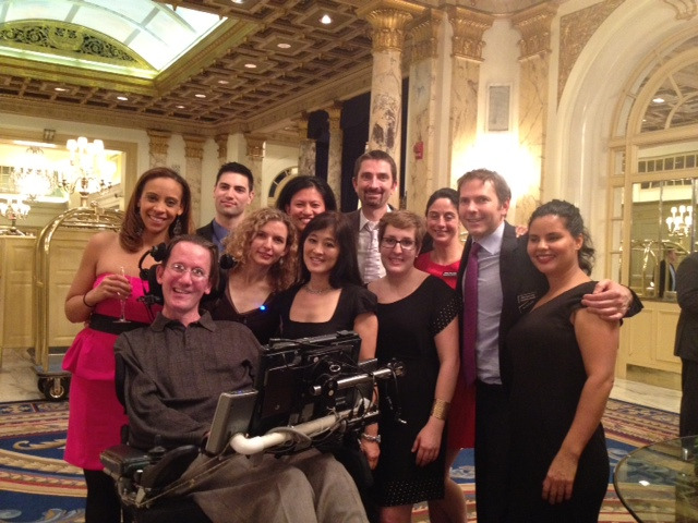 The PatientsLikeMe Team Along with ALS Patient Steve Saling (Front) at the 2nd Annual White Coat Affair for ALS TDI