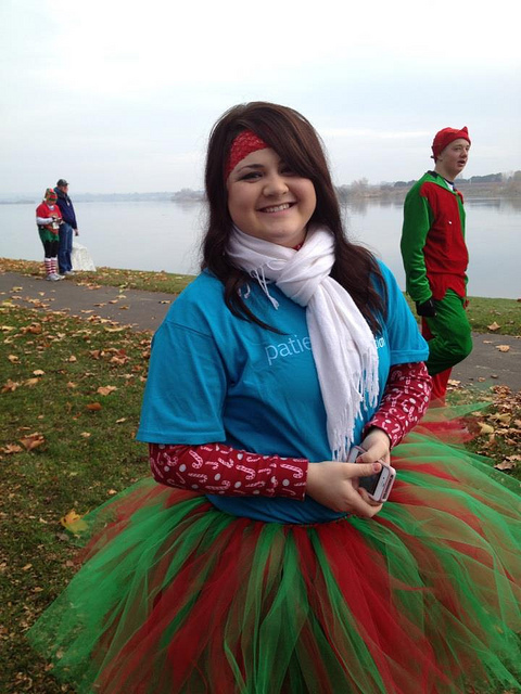 Yes, This Is the First Time We've Seen a PatientsLikeMe T-shirt Worn with a Red and Green Tutu