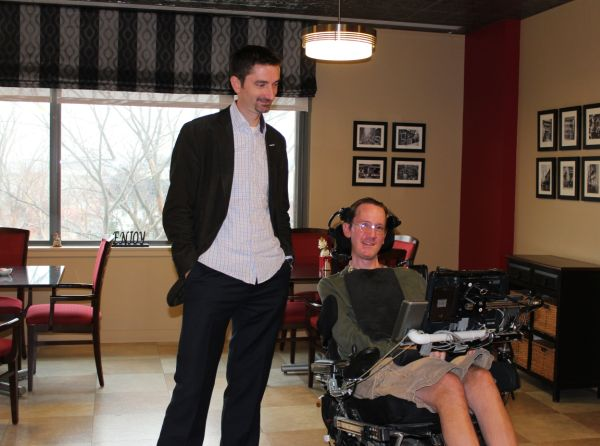 PatientsLikeMe President and Co-Founder Ben Heywood Getting a Tour from Longtime PatientsLikeMe Member and ALS Activist Steve Saling