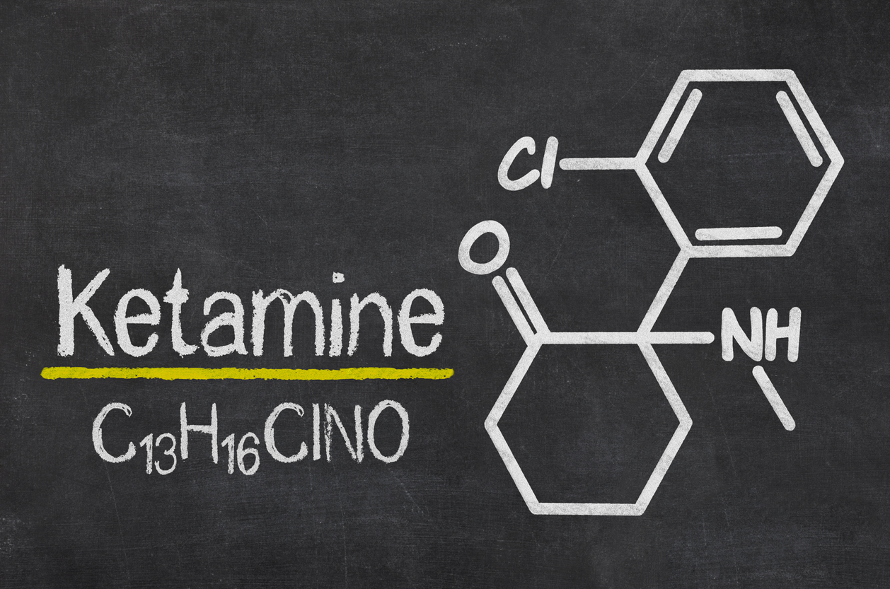 ketamine formula on blackboard