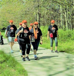 Group of Women Walking Outside