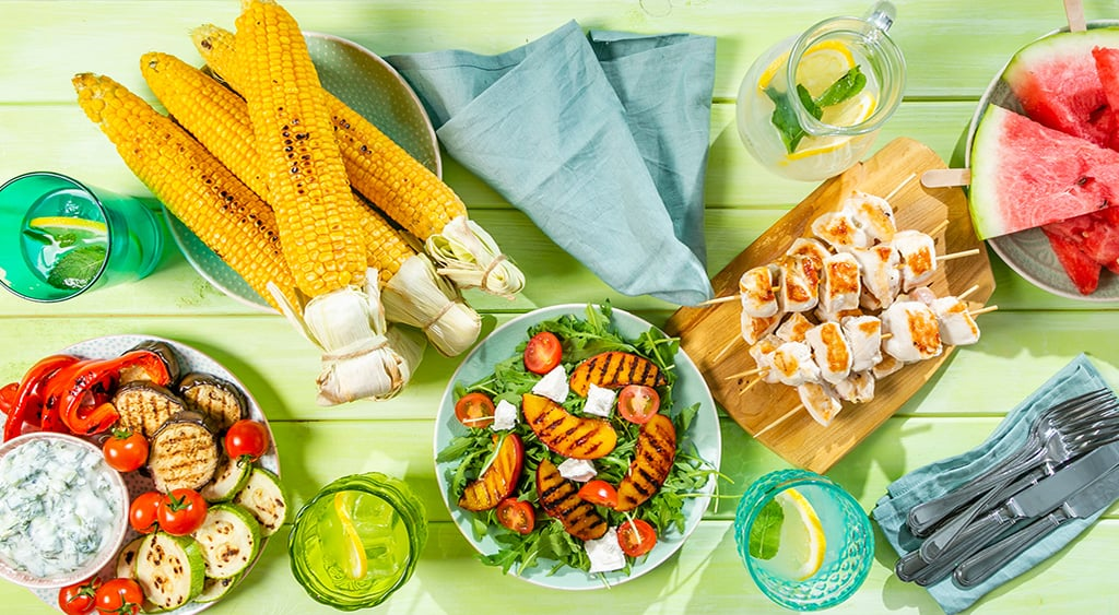 Summer food on a table