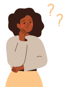 Girl questioning